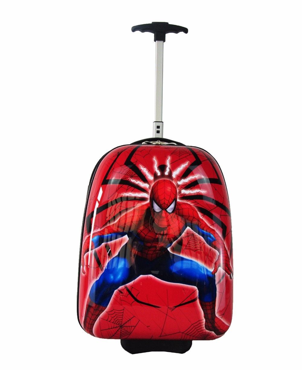16Inch Boys Spiderman Suitcase On Wheels/Grils Hello Kitty Rolling ...