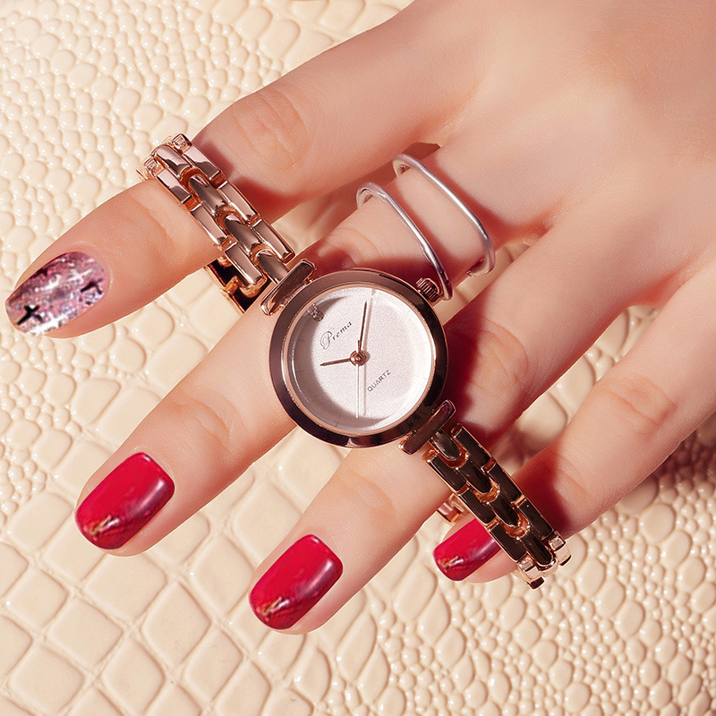 PREMA Brand Women Watch Bracelet Watch Ladies Top Brand Fashion Wristwatch Quartz Watch Female Clock Relogio Feminino Rose Gold