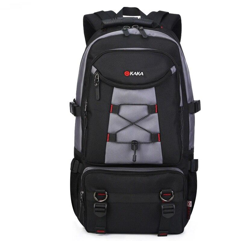 Grand sac à dos de voyage sac à bandoulière hommes alpinisme Oxford verrouillable étanche week-end nuit bagages sac polochon - 2