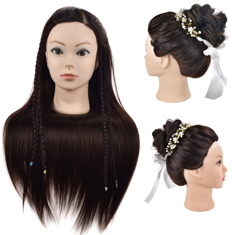 26inch Hair Styling Mannequin Head Hairdressing Training Head for Hair Braiding Practice Long Hair Dummy Training Head Models