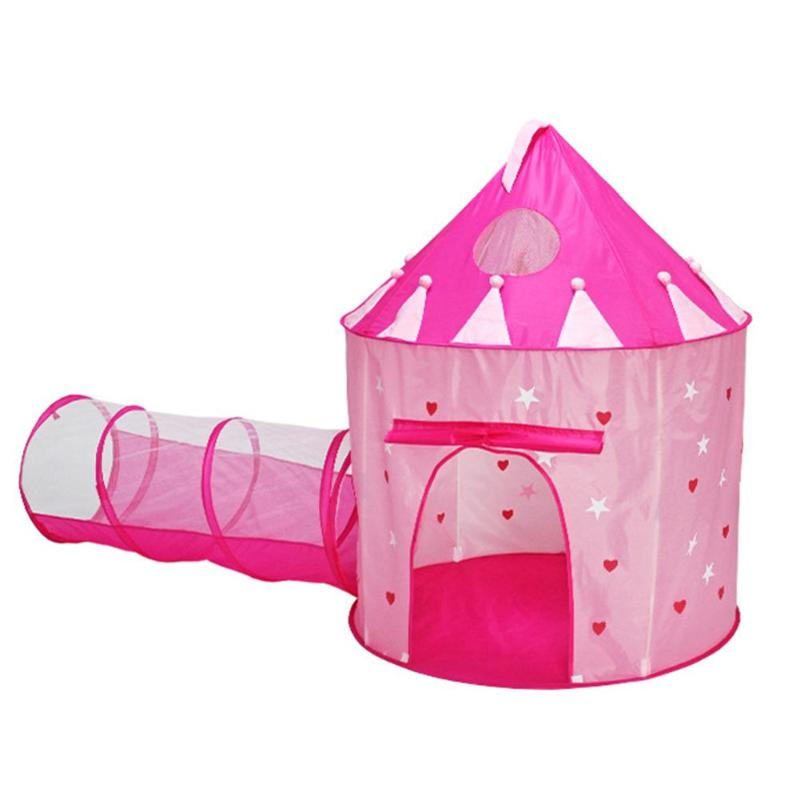 2 in 1 Children Tent Foldable Child Play House Portable Kids Tunnel Yurt Toys Luminous Outdoor Indoor Game House Ocean Ball Play children foldable outdoor indoor ocean ball pool with tunnel kids safe play game house balls toys tent chilren toys hut gift