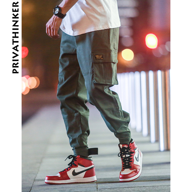Privathinker Cargo Pants Men 2020 Mens Streetwear Joogers Pants Black Sweatpant Male Hiphop Autumn Pockets Trousers Overalls 44