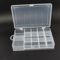 90 Off Transparent 14 Compartments Plastic Fly Fishing Lure Tackle Box Case Transparent Visible With Drain
