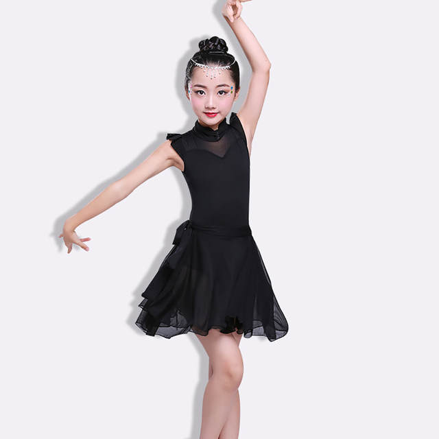 e5585a54f56 placeholder Sexy Latin Dress For Girl Dress Fresh Color Fantasia School  Compete Skirt Children Young Female Ballroom