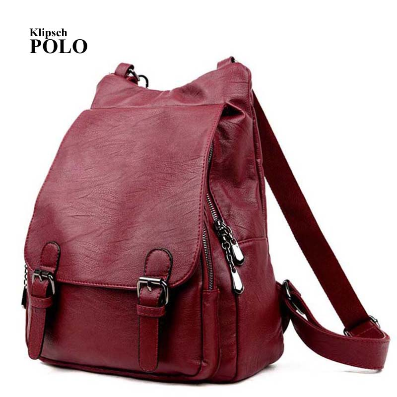 5aa64e4d0d32 Genuine leather Women Backpacks leather Backpacks student bags For Teenagers  Girls Female Travel Back Pack fulanpers