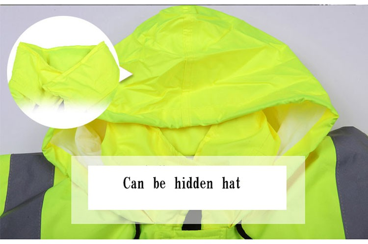 CCGK safety clothing outdoor high visibility reflective jacket waterproof rain coat  warm cotton padded work wear winter outwear (11)