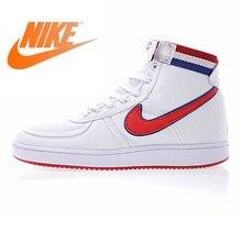 on sale 94a86 0ff4e Authentic Nike Phá Hoại Vải Cao Người Đàn Ông của Giày Đi Bộ Trắng Xanh Đỏ  chịu mài mòn Thoáng Khí Tác Động Kháng 318330