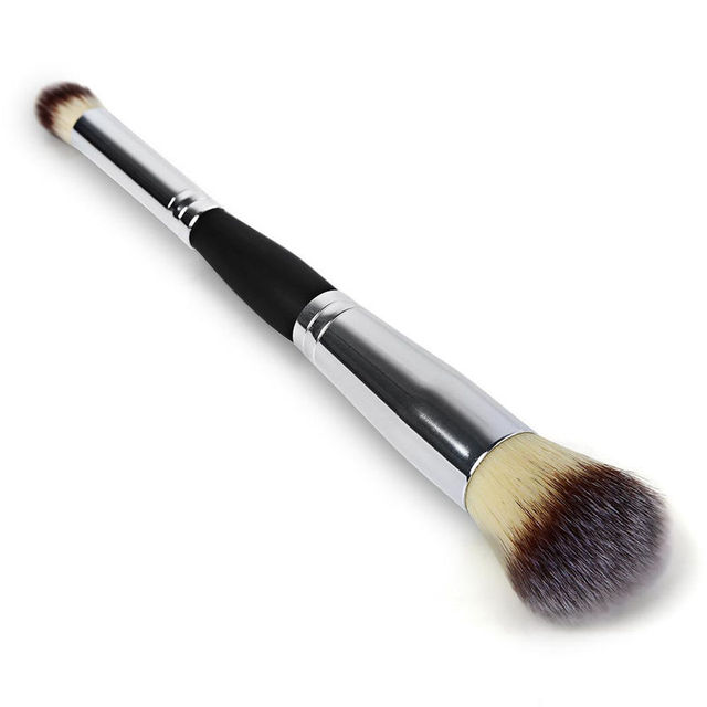 Hot Sale Double Head Cosmetic Brush Contour Face Blush Eyeshadow Powder Foundation Makeup Brush New Arrival High Quality Makeup Brushes