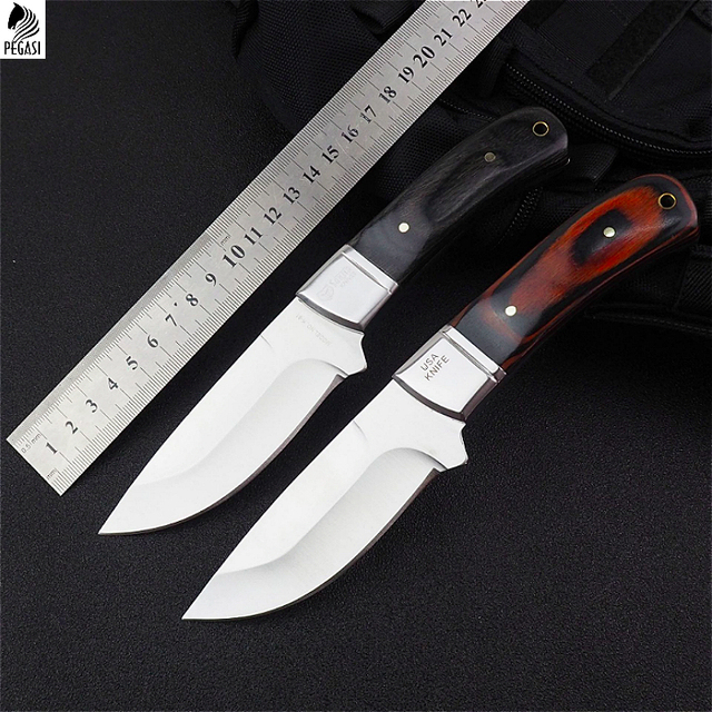 US $14 35 |K91 high carbon steel 58 HRC straight knife sharp rosewood  handle the best outdoor rescue home collection tools free postage-in Knives  from