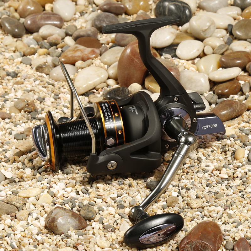 ФОТО Fishing Reel Spinning Reel GH7000 12+1BB 5.2:1 Casting Spinning Wheel Long Shot Wheel Saltwater Fishing carretilha pesca coil