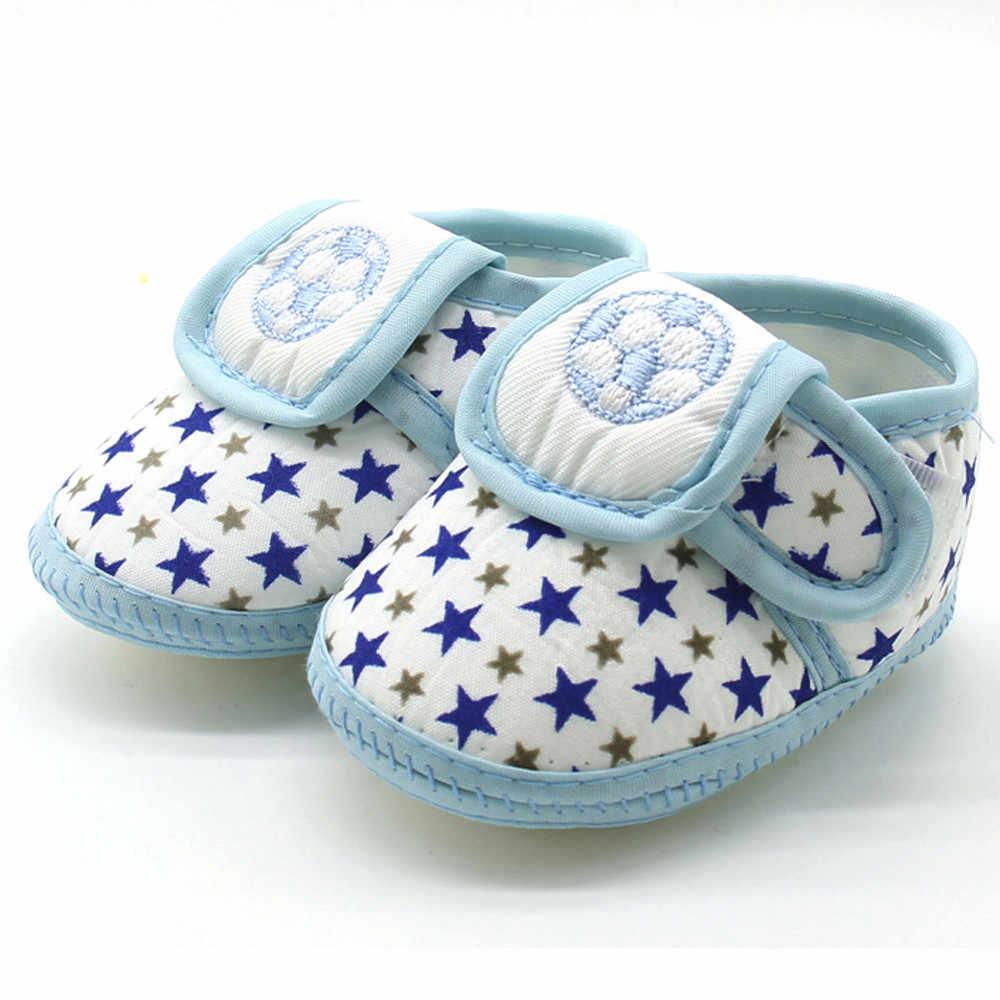 Moda recién nacido bebé estrella niñas niños zapatos suela suave Prewalker zapatos planos casuales calientes Venta caliente