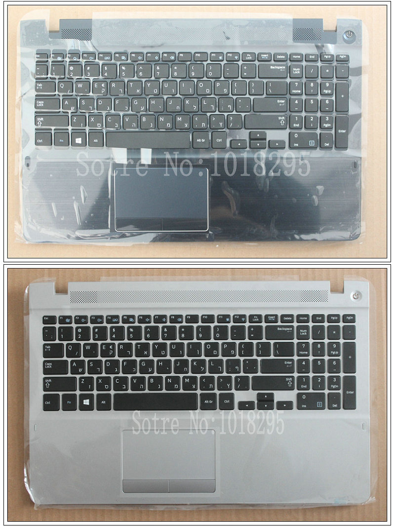 Hebrew Keyboard For Samsung 370R5E 450R5V NP370R5E NP370R5V NP510R5E S02 510R5E-S01 NP450R5E NP450R5V HB Keyboard With A Shell