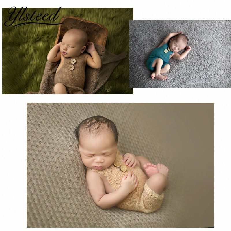 Newborn photography props crochet costume set baby boy knit bib pants studio photography clothing mohair baby gift photo shoot mttuzb newborn baby photography props infant knit crochet costume boys girls photo props children knitted hat pants set