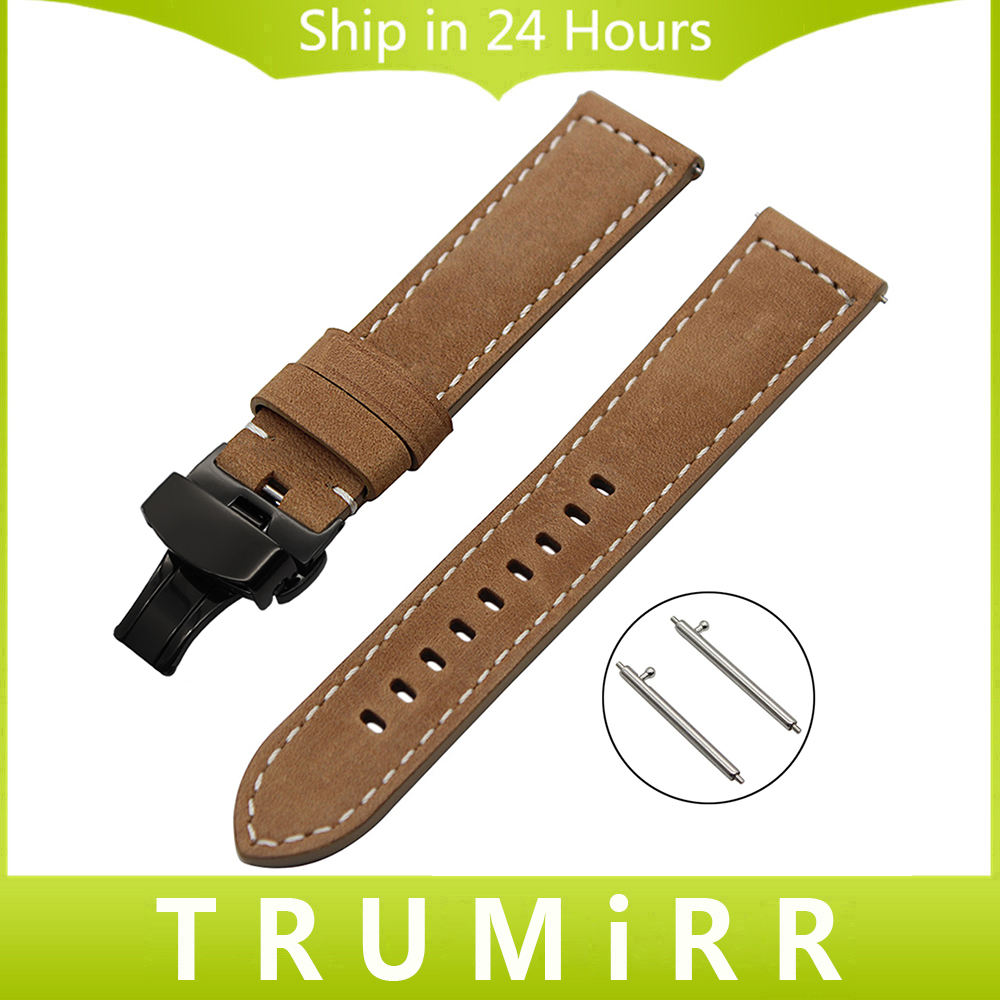 Italian Genuine Leather Watchband 22mm Quick Release for Samsung Gear S3 Classic Frontier Watch Band Steel Buckle Wrist Strap crested genuine leather strap for samsung gear s3 watch band wrist bracelet leather watchband metal buck belt