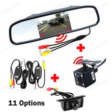 4 3 inch Car Rearview Mirror Monitor Parking Assistance 2CH Video TFT LCD diaplay with CCD