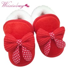 2017 Baby Girls Shoes Toddler First Walker Warm Winter Boots Soft Sole Prewalker Hot Selling(China)