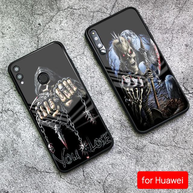 3D XAASHA NADIIF AH OO KHATAR UGU SAMEEYA GLASS HUAWEI PHONE CASE (9 VARIAN)
