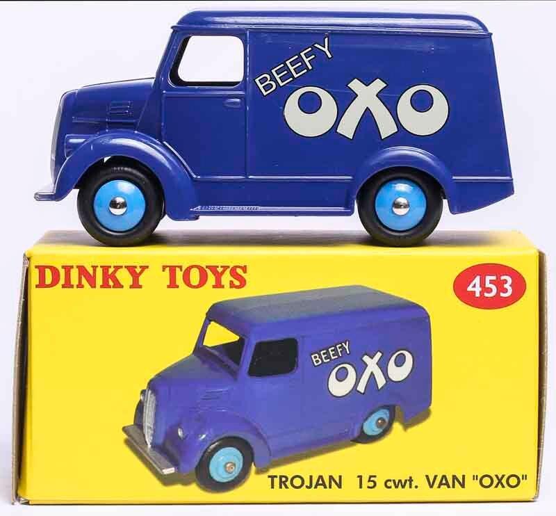1/43 Atlas Dinky Toys 453 Trojan 15 cwt. VAN OXO Diecast CAR MODEL COLLECTION посуда для детей oxo