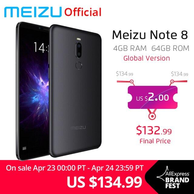 Global Version Meizu Note 8 4GB 64GB Mobile Phone Note8 Snapdragon632 Octa Core 5.99'' 2160x1080P Dual Rear Camera 3600mAh