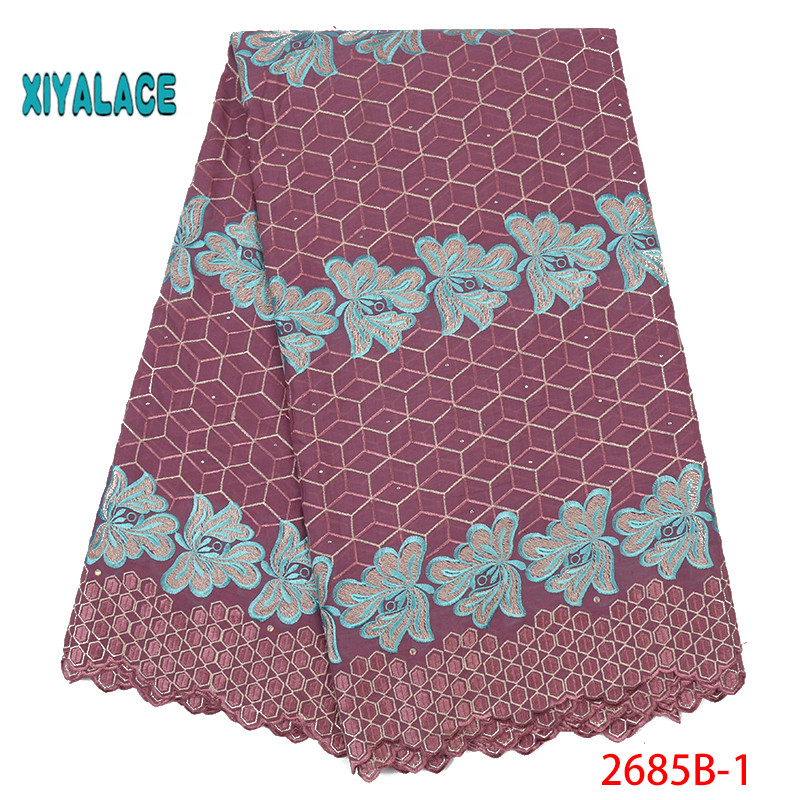 2019 High Quality Lace Swiss Voile Lace Fabric Best Selling African Dresses For Wedding Lace Cotton Lace Party Dress YA2685B-1