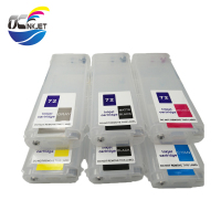 OCINKJET 280ML Empty Refillable Ink Cartridge 6colors For HP 72  For HP T610 T620 T795 T1100 T1120 T1200 T1300 T770 T790|Ink Cartridges| |  -