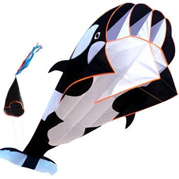 New Arrive  Outdoor fun Sports Single Line Software Whale/ Dolphin Kite / Animal  Kites With Handle and 100m Line Good Flying