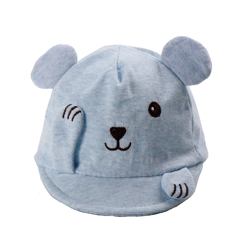 Shy little bear soft brim hat cotton baby cap baby cap baby cap spring new style in Hats Caps from Mother Kids