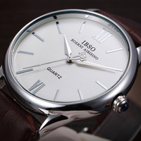 IBSO Fashion Genuine Leather Band Men Quartz Watch 2016 Business Relogios Masculinos Vogue Shock Resistant Hardlex