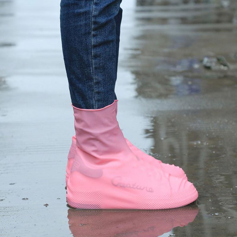Waterproof Rain Reusable Shoes Covers All Seasons Slip-resistant Rubber Rain Boot Overshoes Men&Women Shoes Accessories #01