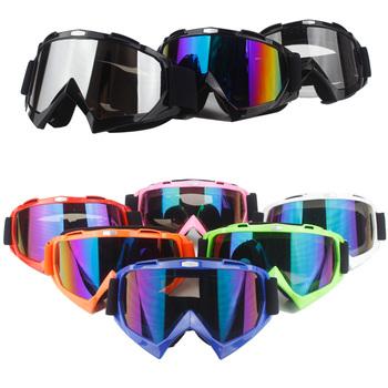 Motocyklowe przekładnie ochronne elastyczny krzyż kask maska Motocross gogle ATV motor terenowy UTV okulary biegów okulary tanie i dobre opinie VIRTUE Kobiety Mężczyźni Unisex MULTI Jasne Jeden rozmiar