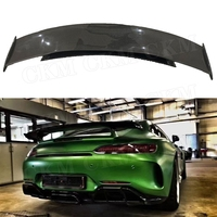 Carbon Fiber Rear Spoiler Boot Lip Fit For Mercedes Benz AMG GT AMG GTS AMG GTR Coupe 2 Door FRP Rear Trunk Wings