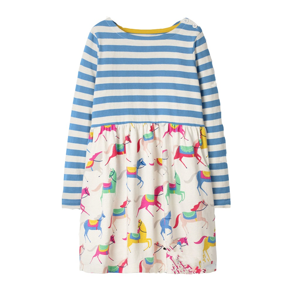 Baby Girls Dress Unicorn Costume for Kids Clothing Brand Children Party Dresses Animal Girls Clothes Princess Dress JM7644 Mix brand girls dress corduroy cartoon bird bear patch embroidery kids dresses for girls clothes princess dress children costume