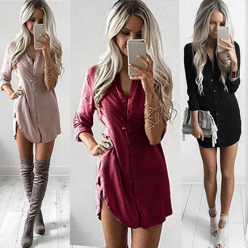 Long Fashion Women   Blouse   2019 Spring Long Sleeve Pink   Shirts   Plus Size Streetwear Solid Burgundy Tops Chiffon   Blouse     Shirt