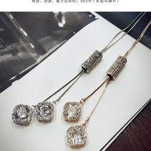 Кристалл от Swarovskis название ожерелья 925 Серебро хорошее ювелирное изделие для женщин Зимний кулон свитер ch Рождество