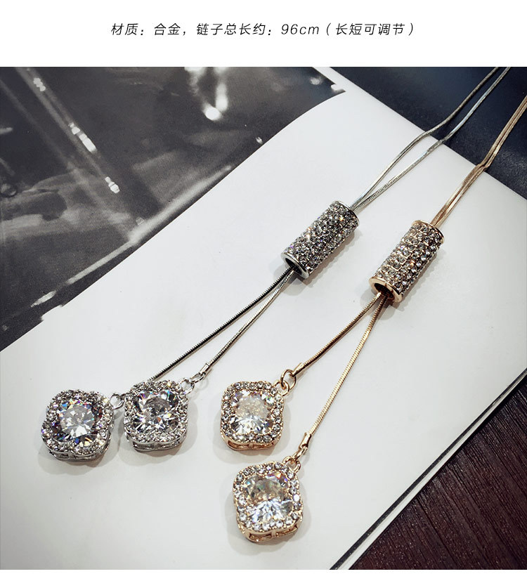 New Original Crystals from Swarovski name Necklaces 925 silver Fine Jewelry For Women winter pendant sweater ch Christmas