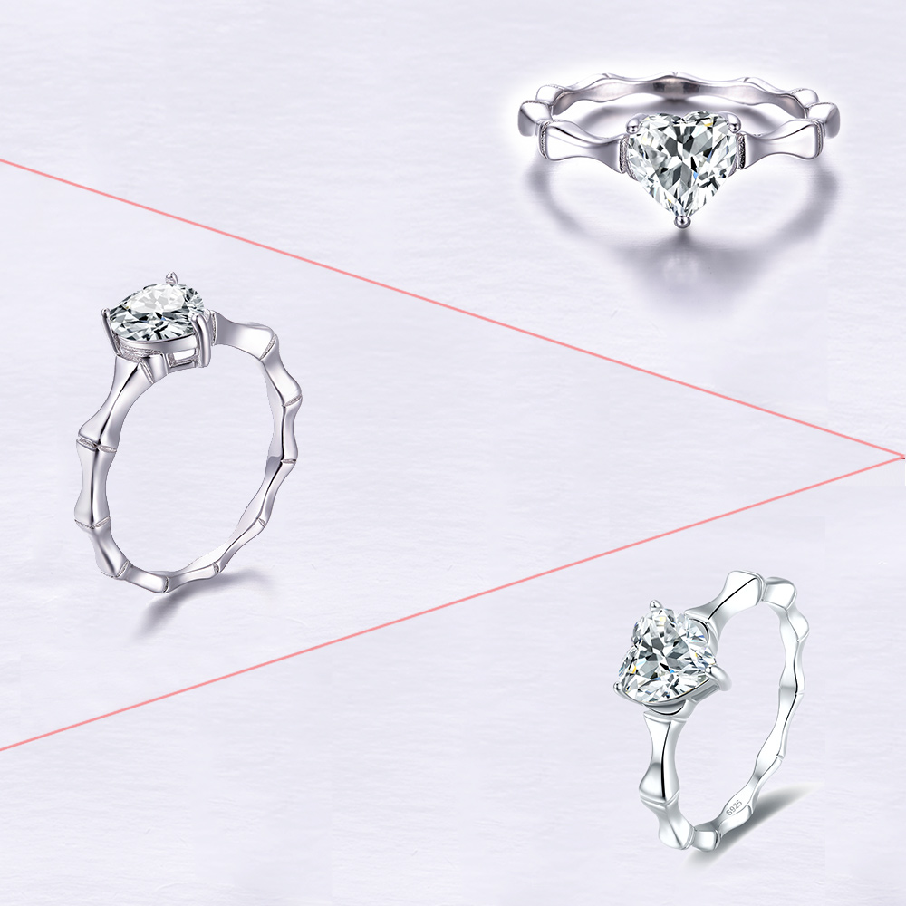 Jrose hot Simulated Anniversary Promise Wedding Band Engagement Ring Bridal Set 100% 925 Sterling Silver Jewelry Free Shipping