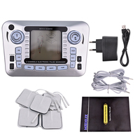 Electric Ems Muscle Low Frequency Stimulator Full Body Pulse Tens Acupuncture Therapy Massager Pain Relief Body Slimming +10 Pad