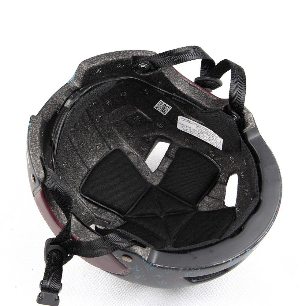 1 pcs Moto Casque Avec Lentille 55-61 cm M/L Mode Style Semi-couverte Vélo Casque solide Équipements De Sécurité Accessoires De Sport - 4