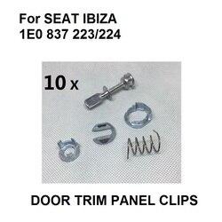 10x zamka drzwi ZESTAW DO NAPRAWIANIA  z przodu w lewo lub w prawo dla SEAT IBIZA 1E0 837 223/224 w Zamki i okucia od Samochody i motocykle na