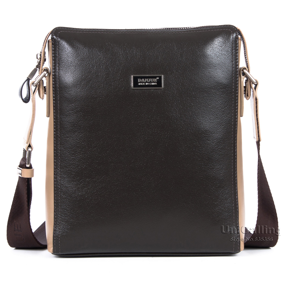 ФОТО Genuine leather men shoulder bag quality cow leather brand men messenger bag casual real leather crossbody bags for men