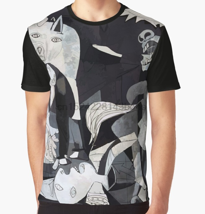 All Over Print T-Shirt Men Funy Tshirt  Pablo Picasso Guernica  Short Sleeve O-Neck Graphic Tops Tee Women T Shirt
