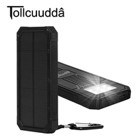 Tollcuudda 10000mah Solar Poverbank For Xiaomi Iphone LG Phone Power Bank Charger Battery Portable Mobile Pover