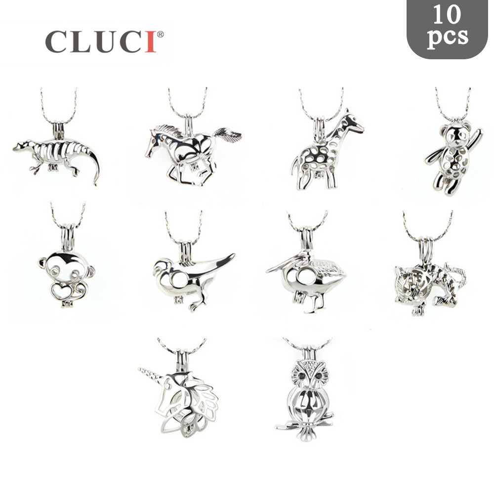 CLUCI 10pcs/set Animal Theme mix styles cage pendants silver colors lockets for necklace/bracelet making Love Wish Jewelry GiftsCLUCI 10pcs/set Animal Theme mix styles cage pendants silver colors lockets for necklace/bracelet making Love Wish Jewelry Gifts