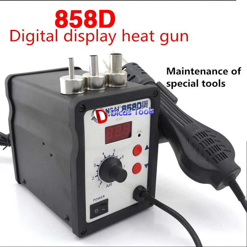 858D Hot Air Gun SMD Rework Solder Station Digital Display Heat Gun Soldering Welding Repair bg removable bga rework solder lcd digital hot air gun heat gun welding toolsa rework station 220v portable