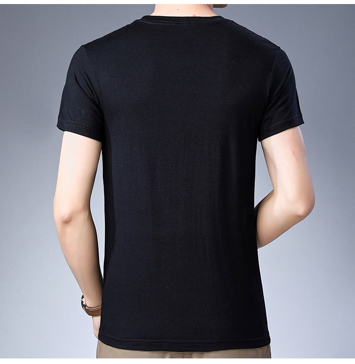 Baishanglinna Spring Summer Short Sleeve Tee Shirt Men Casual O-Neck T-Shirt Men Pure Cotton Top Homme Brand Clothing S - XXXXL 16