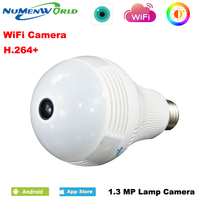 Numenworld 960P CCTV IP cam 360 Panoramin Smart Home Safty Wifi VR Camera LED Bulb Security Camcorder Support PC Tablet Phone