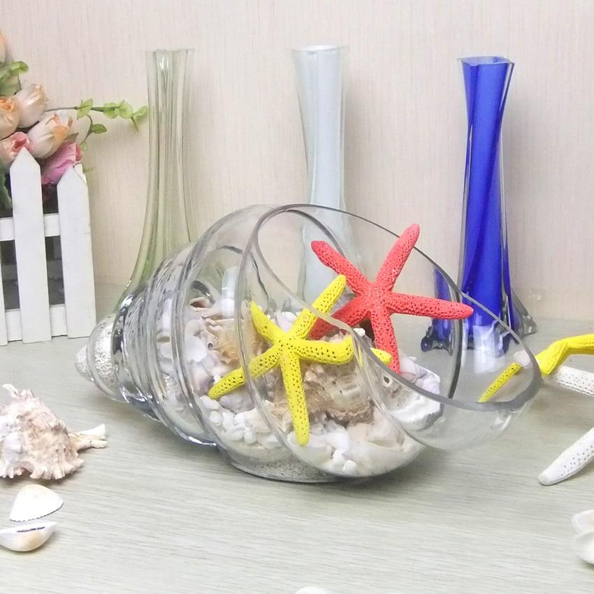 Wholesale Home Decor Conch Table Glass Vase Air <font><b>Plant</b></font> Terrarium Crystal Hydroponic Container Creative Wedding Decor FlowerPot