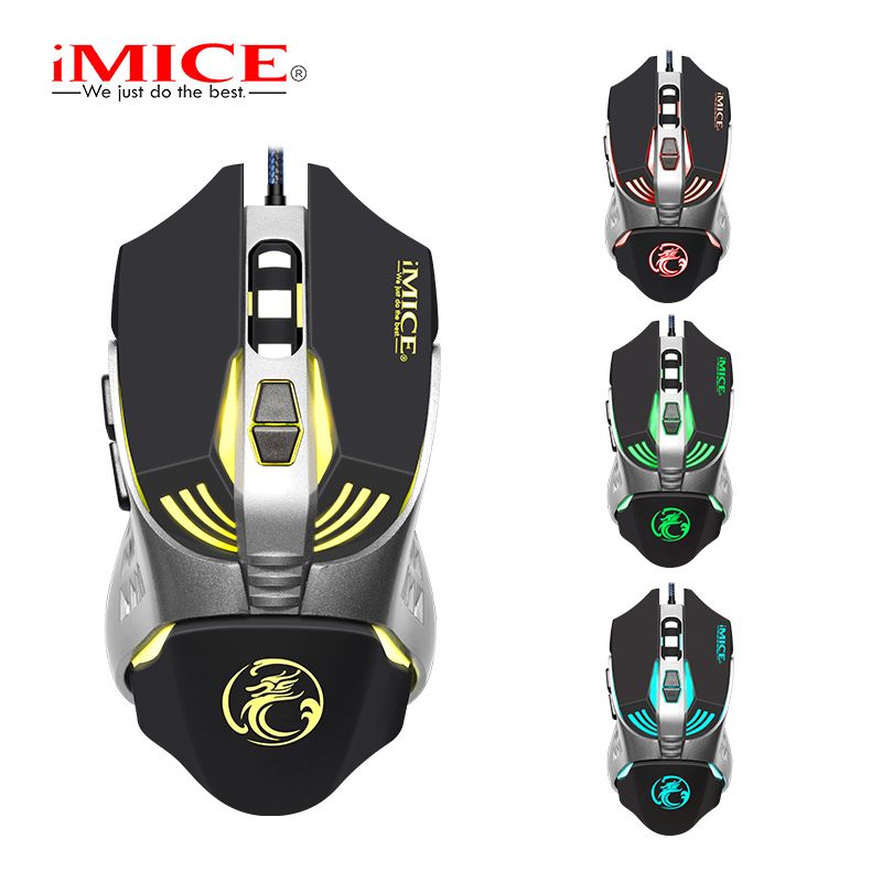 IMice Wired Gaming Mouse 7 Button 3200 DPI LED Optical USB Computer Mouse Gamer Mice V5