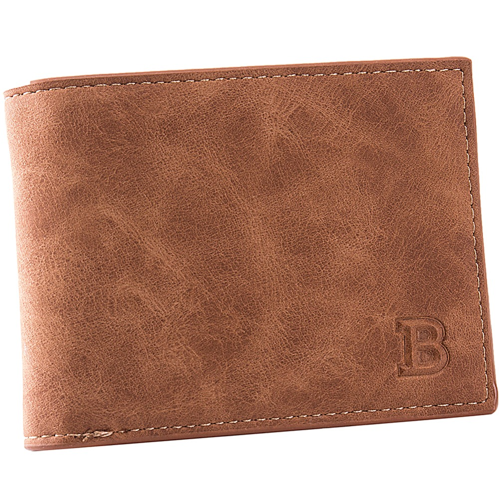 New 2017 Fashion brown Short Wallets PU Leather Brand Men Wallets Dollar Price Men Card Holder Coin Purse Pockets With Zipper