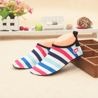 2017 New Summer Beach Slippers For Diving Sock Stripe Shoes Scuba Snorkeling Boots Swimming Wetsuit Non